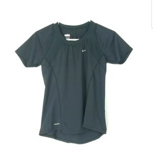 Nike Womens Small Top Activewear Fit Dry Black